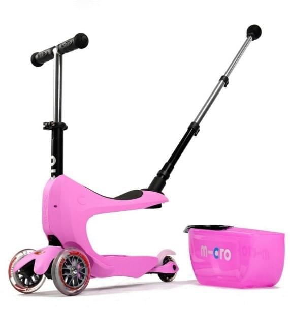 Micro Mini2go Deluxe Plus - růžová (pink) uni