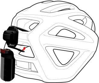 Adaptér na helmu Specialized Stix Helmet Strap Mount - black