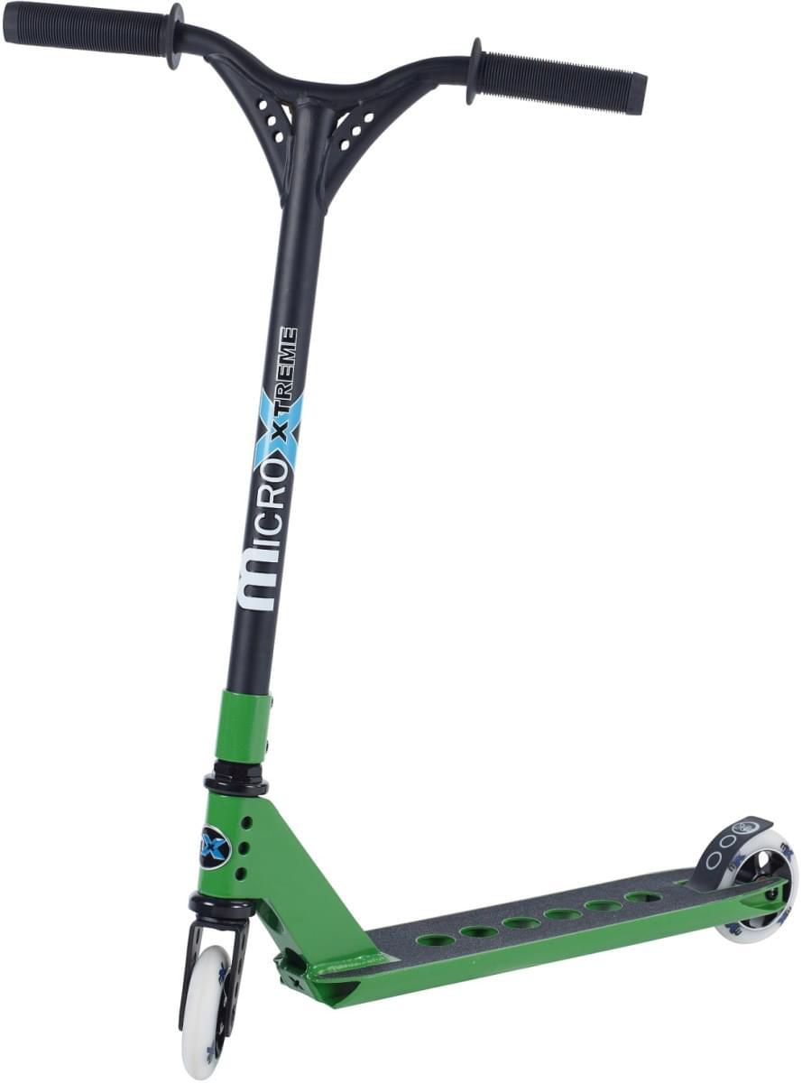 Koloběžka Micro MX Trixx zelená + pegy uni