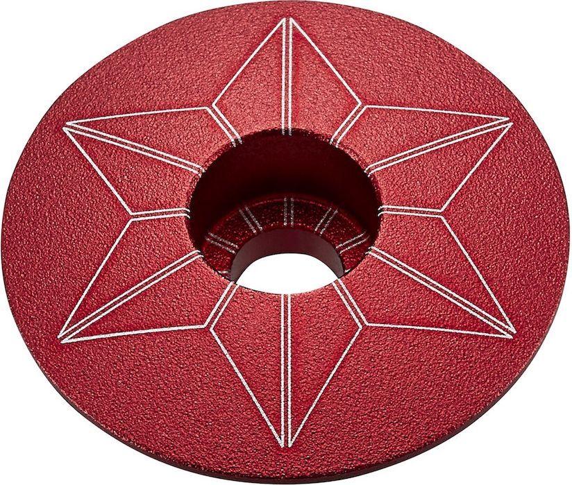 Supacaz Star Capz - Anodized - Red (anodized) uni
