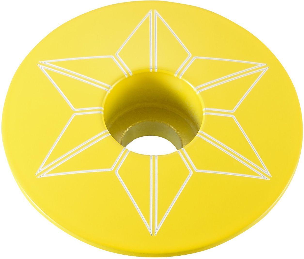 Supacaz Star Capz - Powder Coated - TDF Yellow (powder coated) uni