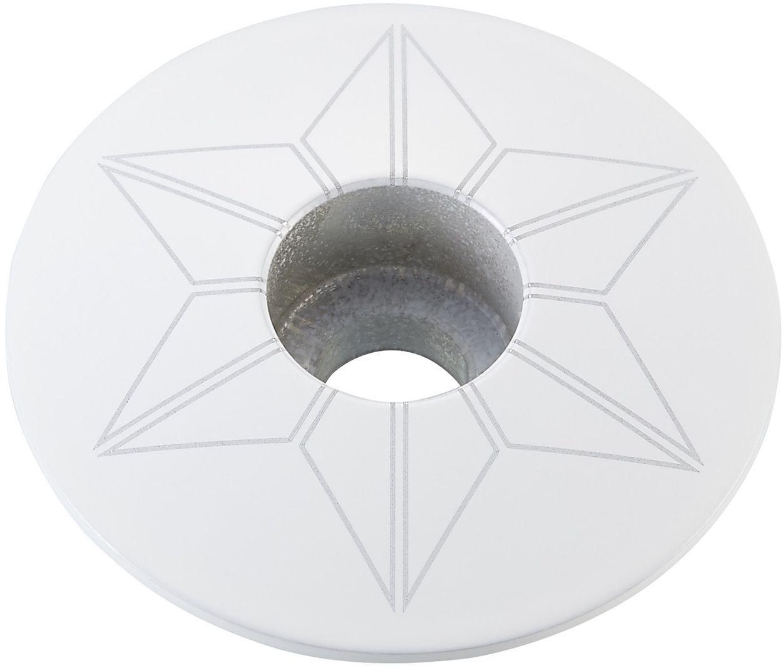 Supacaz Star Capz - Powder Coated - White (powder coated) uni