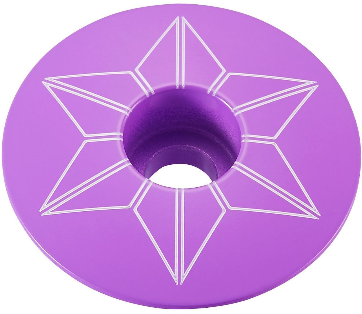 Supacaz Star Capz - Powder Coated - Neon Purple (powder coated) uni