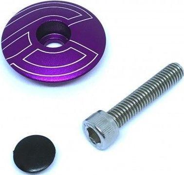 Cinelli Top cap with bolt-purple uni