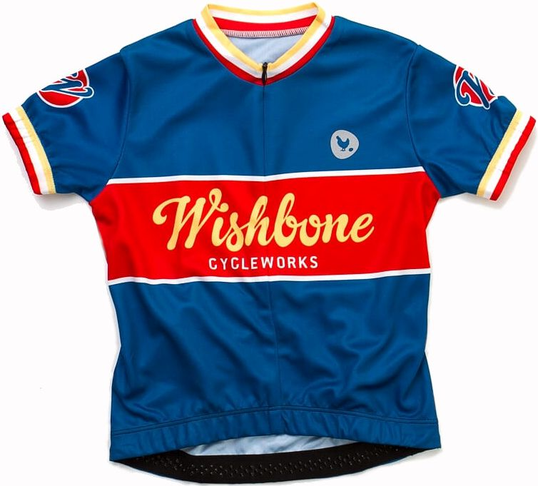 Wishbone Jersey Teal M