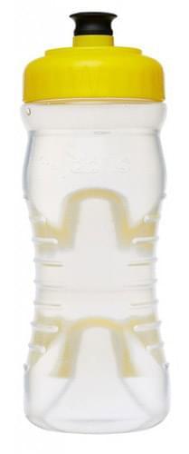 Cyklistická láhev Fabric Cageless - yellow/clear uni